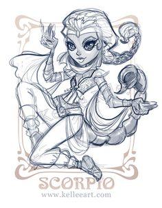 Zodiac Series - Scorpio sketch by KelleeArt on deviantART