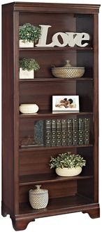Deveraux Cherry Six-Shelf Bookcase | Daily deals for moms, babies and kids