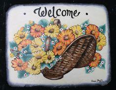 {Welcome Sign} www.slatelady.com regina@slatelady.com
