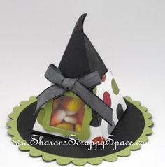 Stampin' Up!  Treat Holder  Sharon White  Petal Cone  Halloween Witch Hat