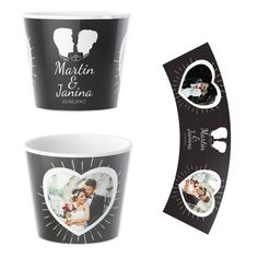 Hochzeit Blumentopf Personalisiert Geschenk Tableware, Creative Gifts, Unique Gifts, Original Wedding Gifts, Photo Mural, Personalized Gifts, Gift Wedding, Flowers, Dinnerware