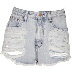 Neon Hart Acid Wash Mitchell Shorts ($83) ❤ liked on Polyvore