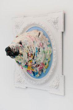 Polar Bear Sculpture  -  Valencia, Spain-based artist Luciana Novo