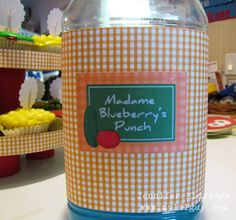 Madame Blueberry's Punch  (LOVE this idea!)