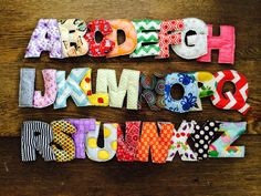 Designed with a special feminine touch, These fabric letters are an excellent way to teach your little girl the alphabet and much more! The set