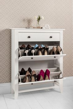 Shoe Storage Wood Cabinet Deluxe With Drawer Cotswold In White Home Furniture Diy Solutions
