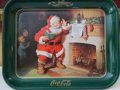 Vintage Coca Cola Christmas Tray  1983 Coca by RowlandParkVintage, $35.00