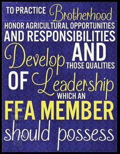 FFA Pledge DIGITAL print file formatted to 8x10.  Great for classroom art, banquet gifts, officer teams, and more!  Use code BUY2SAVE3 for 50% off a
