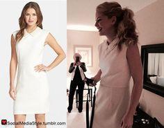 Buy Jennifer Morrison's Pearl Collar White Dress, here!