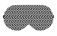 Fret Graphic Pattern Sleep Sleeping Eye Eyes Mask Masks Shade Blindfold Sleepmask Eyemask Eyeshade Blindfolds Sleepmasks Eyemasks Eyeshades by venderstore on Etsy