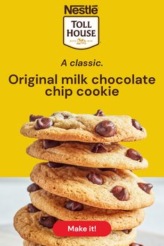 Nestle Chocolate Chip Cookies, Chocolate Morsels, Milk Chocolate Cookie Recipe, Christmas Chocolate Chip Cookies, Chocolate Chips, Christmas Cookies, Easy Cookie Recipes, Dessert Recipes, Fudge Recipes