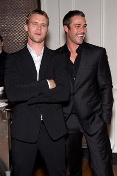 Jesse Spencer and Taylor Kinney; Casey and Severide on Chicago Fire