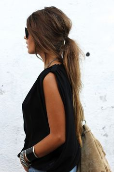 17 inspiring long hairstyles #hair #longhair #ponytail