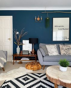 Room, Accent Wall Bedroom, Blue Living Room, Statement Walls Living Room, Paint Colors For Living Room, Media Room Paint Colors, Blue Accent Wall Living Room, Dining Room Accents, Green Accent Walls