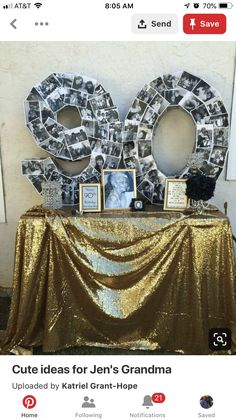 Large Scale Numbers With Vintage Photos Birthday Parties90th Decorations90th