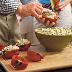 Potato-Stuffed Grilled Bell Peppers - Vegetarian Grilling Recipes - Southern Living