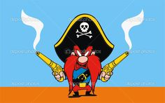 Yosemite Sam Pirate | Vector Graphics, Clip Art, Vector Images - Download Royalty Free ...