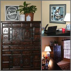The Reveal {my home office reorganization} #makeover #asian #positivewalls #uppercaseliving