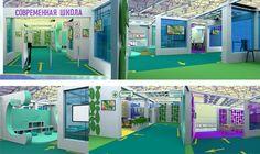 "Exhibition Аrea ""Modern School"" by Evgenia Strukova, via Behance"