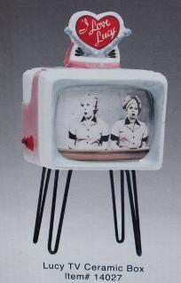 Lucille Ball I LOVE LUCY Ceramic JOB SWITCHING TV Trinket Jewelry Box - NEW-RARE