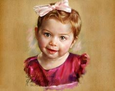 портрет пастелью - Поиск в Google