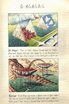 Codex Seraphinianus, 1976-1978 'The Codex Seraphinianus is a book written and illustrated by Italian artist, architect and industrial designer Luigi Serafini, from 1976 to 1978. The book appears to be a visual encyclopedia of an unknown world, written in one of its languages, an alphabetic writing intended to be meaningless.'