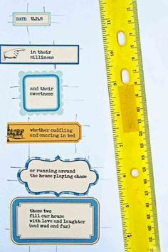 """Great tip for printing on labels by Jill Sprout. Much easier than my """"scan-edit-print-print"""" technique..."""