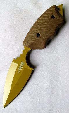 Hardcore Hardware Australia LFK-05 DGC Fixed Blade Tactical Knife Tan Teflon Finish Dark Earth G10 Handle Coyote Kydex Sheath