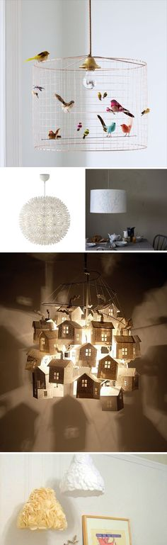 love the bird house lamp