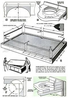 diy pool table woodworking plans - How To Make A Pool Table