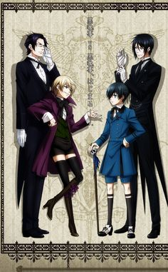 Black Butler (2008) In Victorian London, 12-year-old business magnate Ciel Phantomhive thwarts dangers to the queen as he's watched over by his demon butler, Sebastian.