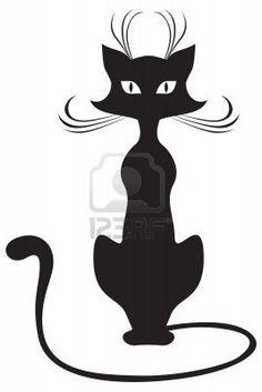 Google Image Result for http://us.123rf.com/400wm/400/400/agrino/agrino1203/agrino120300008/12584457-la-silueta-de-negro-gatos-graciosos.jpg