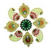 9-piece-green-rangoli-set-muhenera-diwali-collection