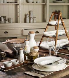 Villeroy & Boch Artesano Original: Prachtig basisservies in wit porselein gecombineerd met hout en kurk.