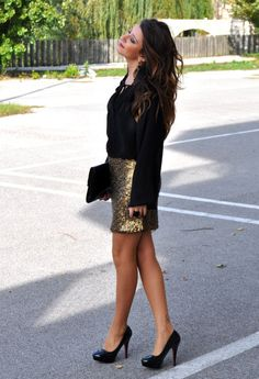 Sequined Skirt  , H in Camicie / Bluse, H in Gonne, claudiopietros in Gioielli