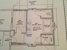 Master Bathroom Layout | New master bath layout - Bathrooms Forum - GardenWeb