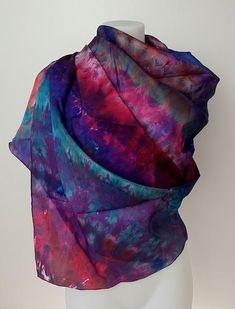 Colour Magic - large silk scarf in splash or vibrant colours