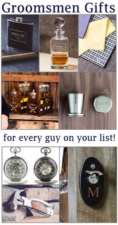 50+ affordable groomsmen gifts for all the men in your wedding party - no matter his personality, you'll find the right gift for him! #GroomsmenGifts #bestmangifts
