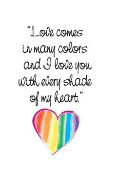 "I love u MRG! Inside ""Rainbow Colored Love"" card. #lgbt #glbt #pride"