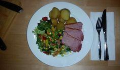 20141203_204709 Meat Salad, Sliced Ham, Roasting Tins, Ham Glaze, Baked Ham, Fruit And Veg, The Dish, Casserole Dishes, Meal Planning