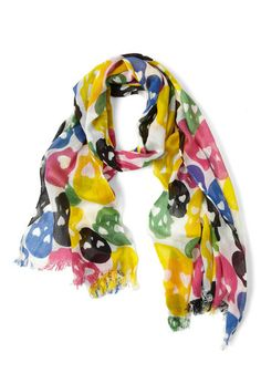 Coloured Scull Scarf from Modcloth. Hurry up Spring!