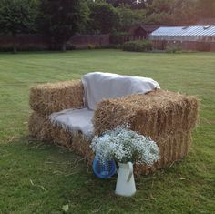 straw bale furniture - Google Search