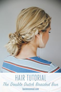 Hair How-To: The Double Dutch Braid Bun #hairstyles #themaharanidiaries | The Maharani Diaries