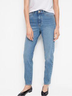 Džíny s vysokým pasem a rovnými nohavicemi Modrá cf5a105eff