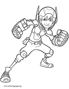 Hiro Hamada is a genius and leader of Big Hero 6, a team of superheroes. Come check out this amazing Disney Big Hero 6 coloring sheet and have fun!