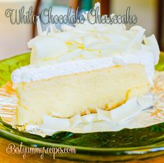 White Chocolate Cheesecake This mouthwatering cheesecake is the perfect way to finish a large Sunday lunch, as it's incredibly light despite...