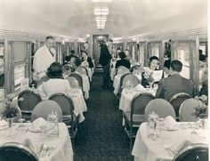 1950s train dining car interior modern midcentury windows vintage advertisement travel by i want. Black Bedroom Furniture Sets. Home Design Ideas