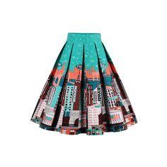 88cb2e139f Retro Floral Printed Summer Skirts Womens High Waist Midi Skirt With  Pockets, Pleated Midi Skirt. Luulla