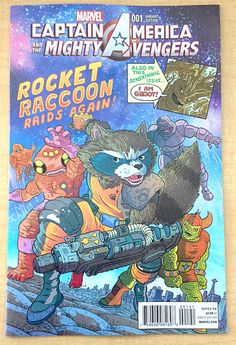 CAPTAIN AMERICA AND THE MIGHTY AVENGERS #1  VARIANT M/NM ROCKET RACCOON & GROOT. Click Image for direct link for more details.