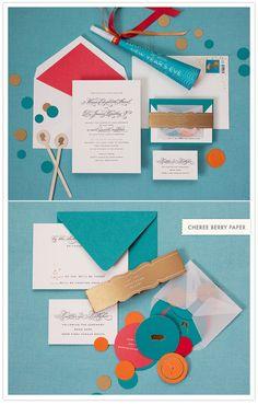 graphic wedding invite